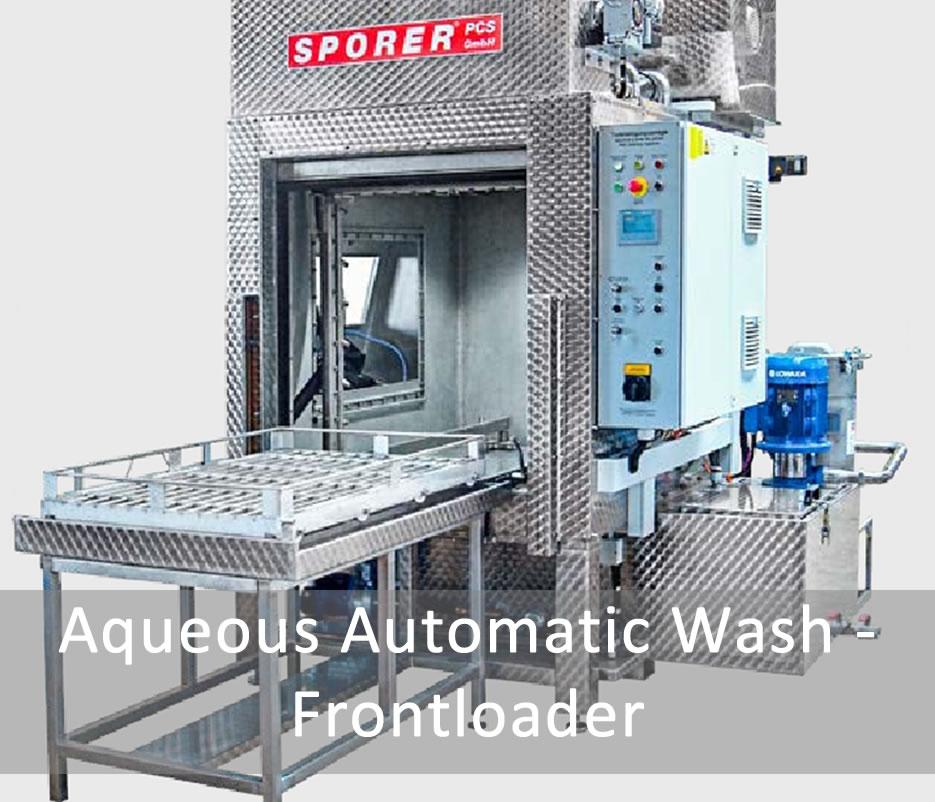 Aqueous Automatic Wash - Frontloader