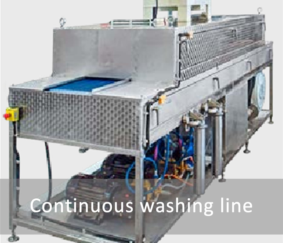 Continuous washing line